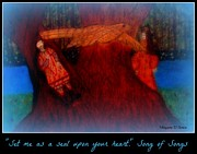 Religious Art Pastels Prints - Meditation Number 3 Song of Songs Print by Maryann  DAmico