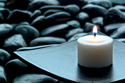 Candle Lit Prints - Meditation  Print by Olivier Le Queinec