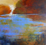 Waterscape Painting Metal Prints - Meditation Place no. 3 Metal Print by Melody Cleary