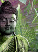 Buddha Metal Prints - Meditation Vegetation Metal Print by Christopher Beikmann
