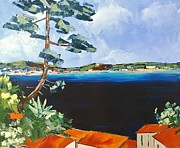 Tropez Paintings - Mediterannean Colors by Atelier De  Jiel