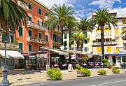 Italian Cafe Prints - Mediterranean Cafe Print by George Oze
