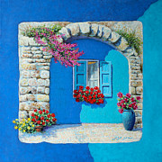 Boxes Paintings - Mediterranean colorful  by Miki Karni