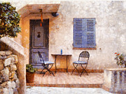 Painterly Prints - Mediterranean house Print by Pixel  Chimp