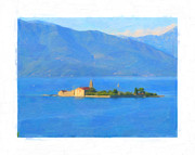 Mediterranean Landscape Digital Art Framed Prints - Mediterranean island Framed Print by George Bailey