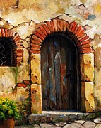 Mediterranean Paintings - Mediterranean portal 02 by Emerico Imre Toth