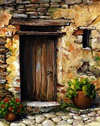 Gateway Paintings - Mediterranean portal by Emerico Imre Toth