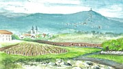 Saint Hope Prints - Medjugorje Fields Print by Christina Verdgeline