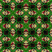 Kaleidoscope Framed Prints - Medusa Abstract 20130131p0 Framed Print by Wingsdomain Art and Photography