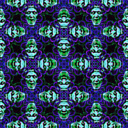 Kaleidoscope Framed Prints - Medusa Abstract 20130131p138 Framed Print by Wingsdomain Art and Photography