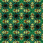 Kaleidoscope Framed Prints - Medusa Abstract 20130131p38 Framed Print by Wingsdomain Art and Photography