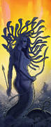 Medusa Mixed Media Metal Prints - Medusa Metal Print by Alan  Hawley