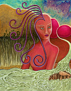 Visionary Artist Painting Originals - Medusa by Annette Wagner