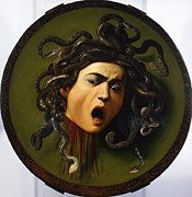 Medusa Framed Prints - Medusa Framed Print by Caravaggio