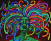 Medusa Mixed Media Framed Prints - Medusa II Framed Print by Jeremy Moore