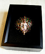 Recycled Reliefs - Medusa in a Shadow Box by Roger Swezey