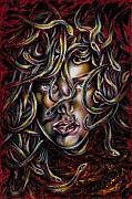 Surreal Art Paintings - Medusa No. three by Hiroko Sakai