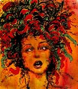 Medusa Metal Prints - Medusa Metal Print by Susan Holsan