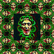 Medusa Metal Prints - Medusas Window 20130131p0 Metal Print by Wingsdomain Art and Photography