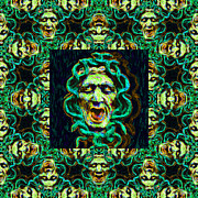 Scary Digital Art - Medusas Window 20130131p38 by Wingsdomain Art and Photography