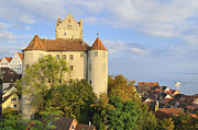 Meersburg Castle And Town Germany Print by Matthias Hauser