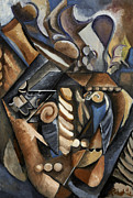 Cubist Paintings - Meerschaum Pipe II by Josh Lerch