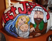 Baby Jesus Mixed Media Prints - Meet Jesus Print by Melissa Penny