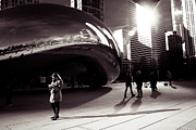 Millenium Park Framed Prints - Meet Me At The Bean Framed Print by Lauri Novak