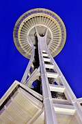 Urban Space Framed Prints - Meet Me At The Needle Framed Print by Benjamin Yeager