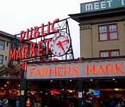 Meeting Photo Prints - Meet Me in Seattle Print by Karen Wiles