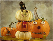 Holidays And Celebrations Prints - Meet the Pumpkins Print by Juli Scalzi