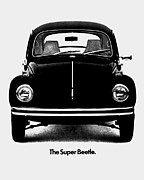 Vw Beetle Framed Prints - Meet The Super Beetle Framed Print by Benjamin Yeager