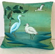 Pillow Tapestries - Textiles - Meeting at the Pond by Michael Chadd