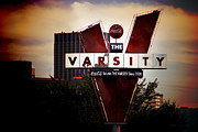 Atlanta Framed Prints - Meeting At The Varsity - Atlanta Icons Framed Print by Mark E Tisdale