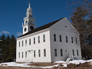 Monadnock Region Posters - Meeting House Poster by John Poltrack