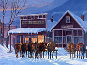 Winter Storm Painting Metal Prints - Meeting of the Board Metal Print by Randy Follis