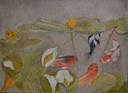 Lilly Pond Paintings - Meeting Place by Hannah Boynton