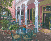 Realist Painting Framed Prints - Meeting Street Inn Charleston Framed Print by Richard Harpum