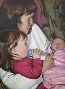 Ontario Portrait Artist Paintings - Meeting Vanessa by Sheila Diemert