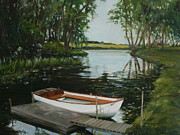 Norfolk; Painting Prints - Meg Print by Beth Munnings