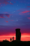 Stonehenge Digital Art Prints - Megalithic Moment in Time Print by Kathleen Horner