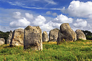 Large Metal Prints - Megalithic monuments in Brittany Metal Print by Elena Elisseeva