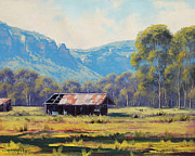 Shed Painting Prints - Megalong Valley Shed Print by Graham Gercken