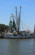 Shrimp Boat Prints - Megan Elaine Print by Suzanne Gaff