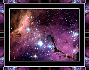 Stellar Prints Posters - Megellanic Cloud with Self Frame Poster by Rose Santuci-Sofranko