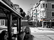Grocery Store Prints - MEI FUNG GROCERY from HYDE ST CABLE CAR - SAN FRANCISCO Print by Daniel Hagerman