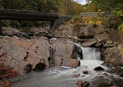Gentle Cascades Art - Meigs Falls In Autumn by Dan Sproul