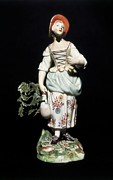 Ceramic Jug Posters - Meissen Porcelain. Figure Of A Peasant Poster by Everett