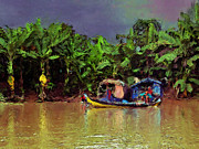 Mekong Fishing Print by Carl Rolfe