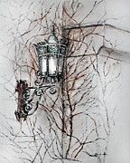 Exterior Drawings - Melancholy of the wall by Danuta Bennett